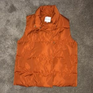 (Gibson Latimer) orange puffy vest NWOT